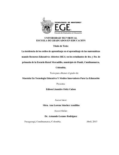 Universidad Tecvirtual Escuela De Graduados En Educación