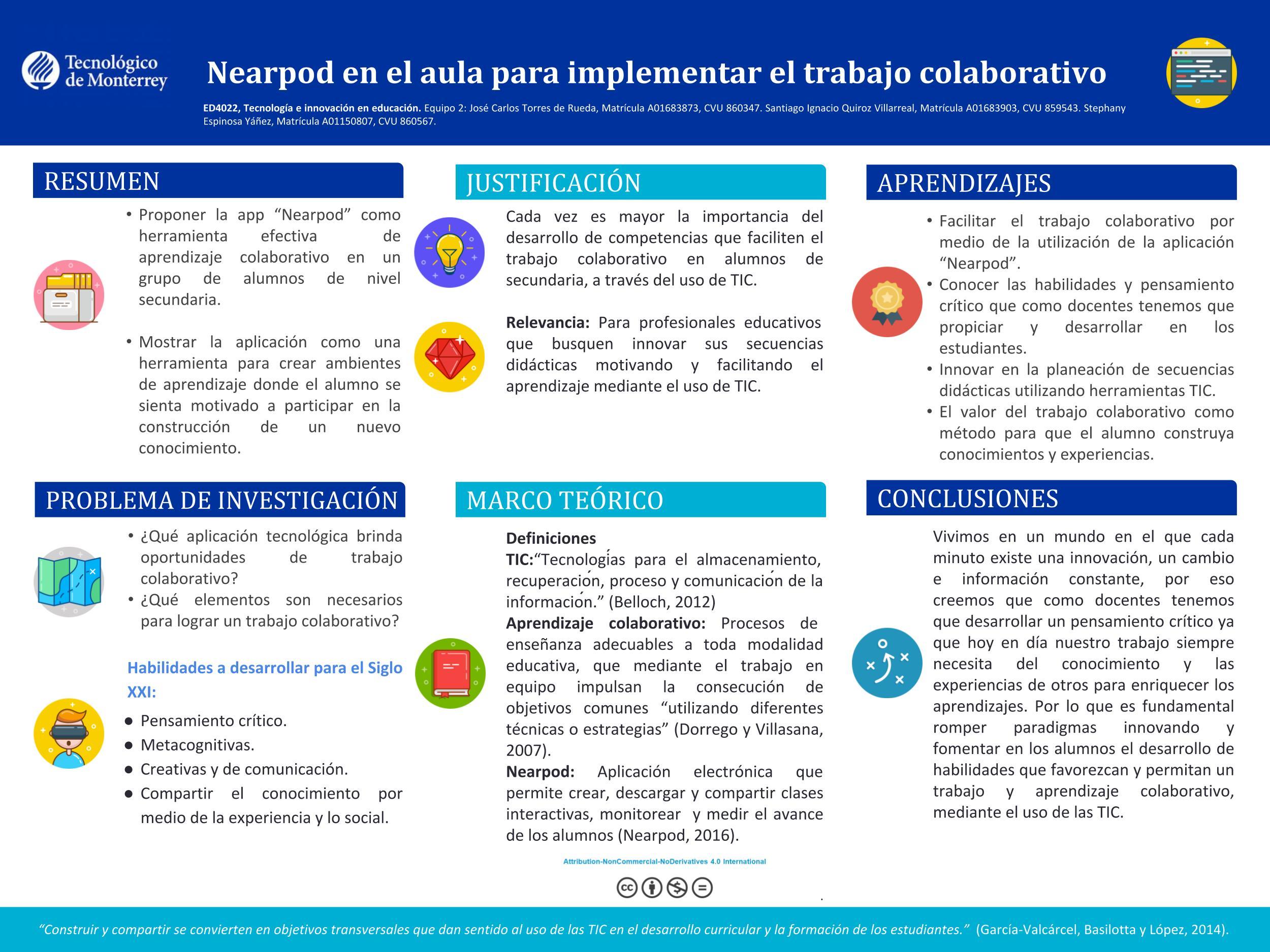 Nearpod en el aula para implementar el trabajo colaborativo